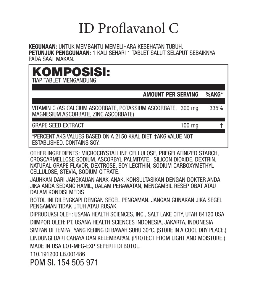 komposisi proflavanol c usana indonesia